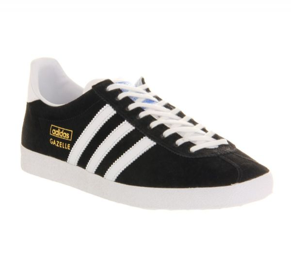 Adidas Originals Men's Gazelle OG Vintage Black Suede Leather Casual Shoes Trainers